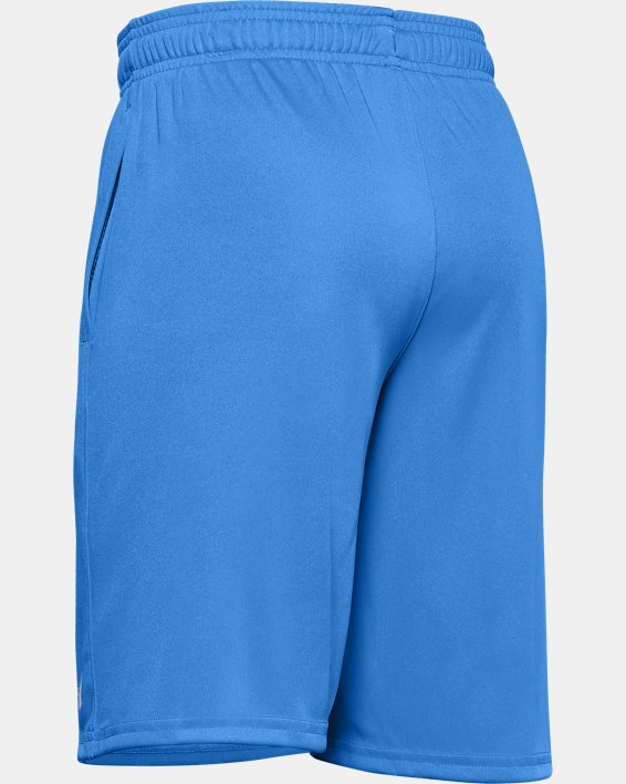 Boys' UA Prototype Wordmark Shorts, Blue, pdpMainDesktop image number 1