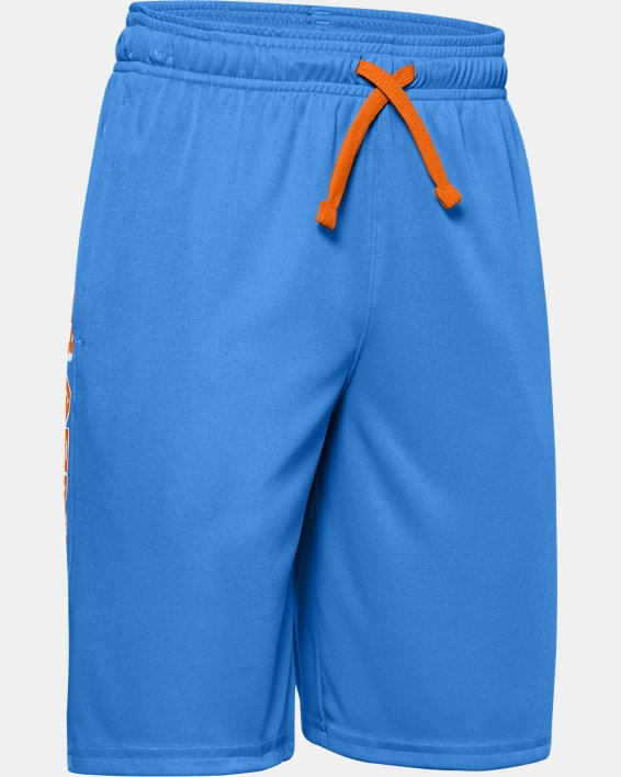 Boys' UA Prototype Wordmark Shorts, Blue, pdpMainDesktop image number 0
