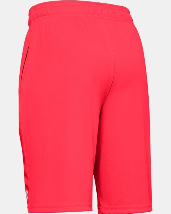 Boys' UA Prototype Wordmark Shorts, Red, pdpMainDesktop image number 1