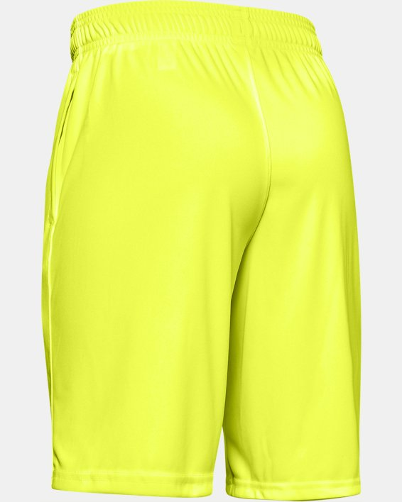 Boys' UA Prototype Wordmark Shorts, Yellow, pdpMainDesktop image number 1