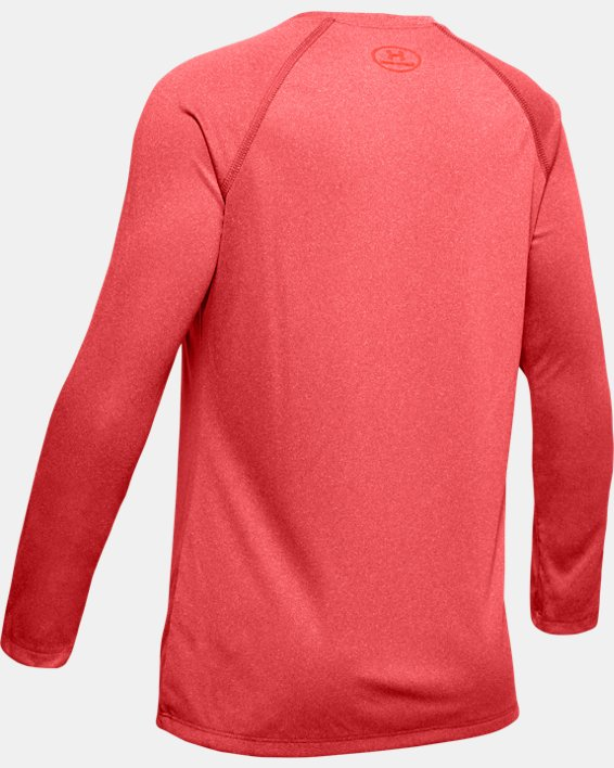 Girls' UA Big Logo Long Sleeve Shirt, Orange, pdpMainDesktop image number 5