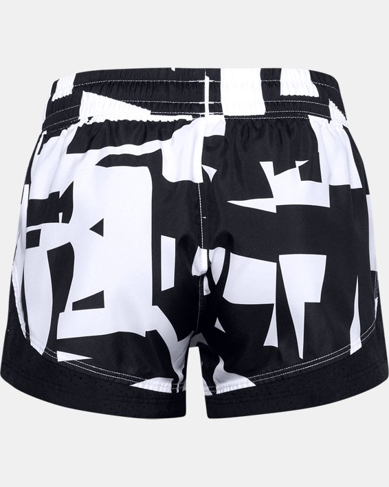 Girls' UA Sprint Printed Shorts, Black, pdpMainDesktop image number 1
