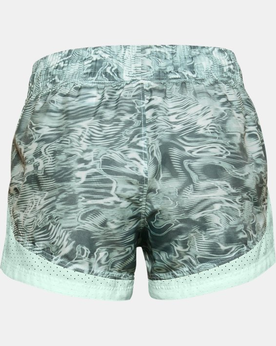 Girls' UA Sprint Printed Shorts, Blue, pdpMainDesktop image number 1