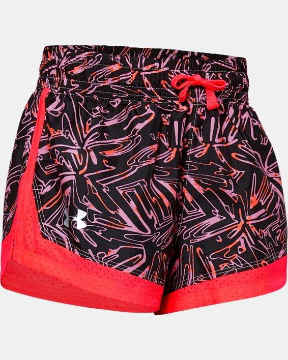 Girls' UA Sprint Printed Shorts, Pink, pdpMainDesktop image number 0