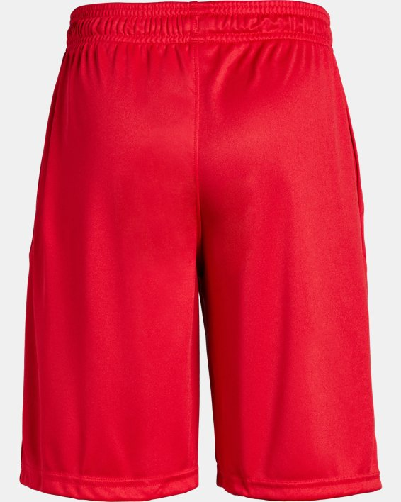 Boys' UA Prototype Logo Shorts, Red, pdpMainDesktop image number 5