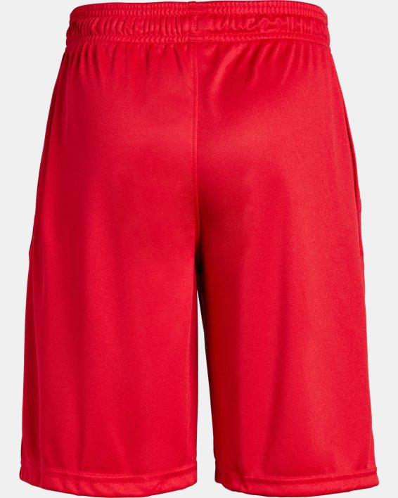 Boys' UA Prototype Logo Shorts, Red, pdpMainDesktop image number 5