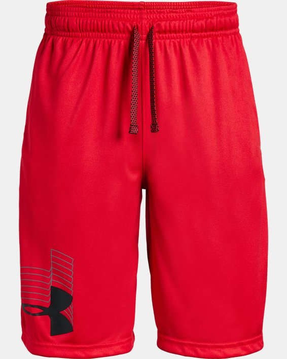 Boys' UA Prototype Logo Shorts, Red, pdpMainDesktop image number 4