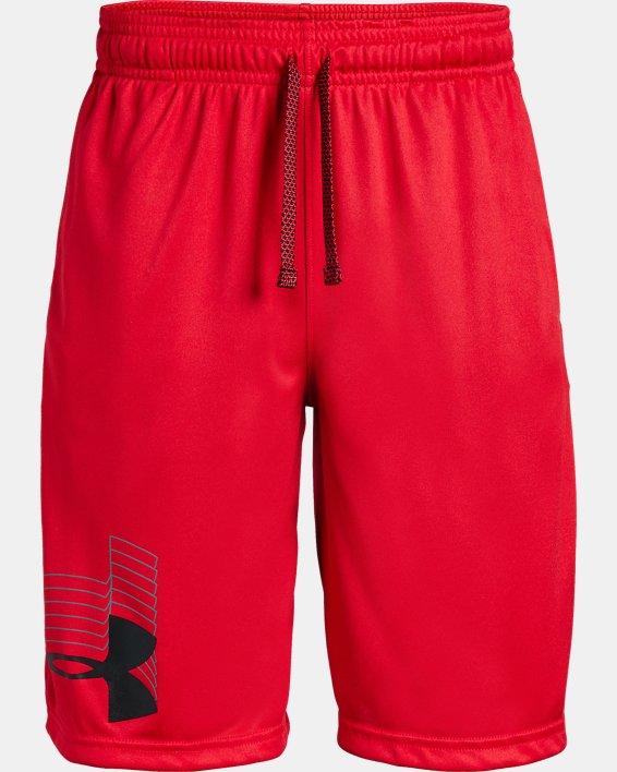 Boys' UA Prototype Logo Shorts, Red, pdpMainDesktop image number 4