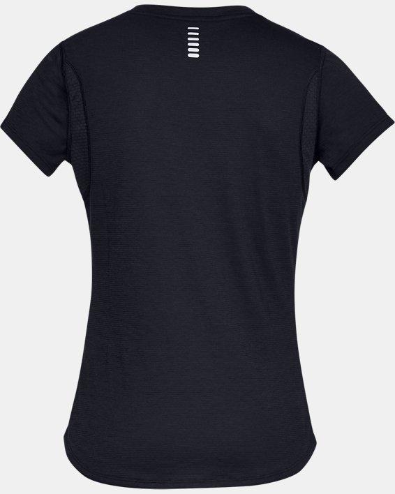 T-shirt à manches courtes UA Streaker pour femme, Black, pdpMainDesktop image number 5