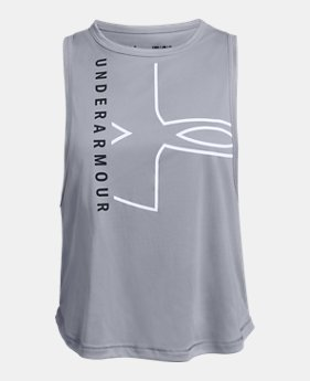 b65c5432b4 New to Outlet Girls' UA Beat The Heat UV Graphic Tank 2 Colors Available  $18.99