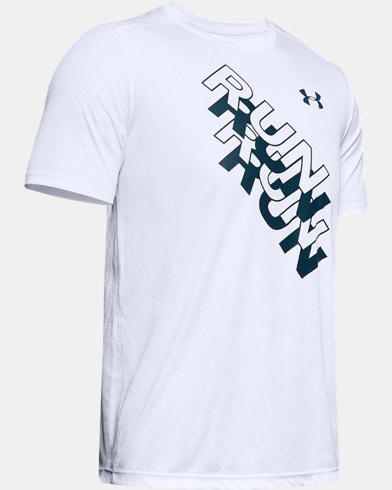 Men's UA International Run Day GX T-Shirt, White, pdpMainDesktop image number 4