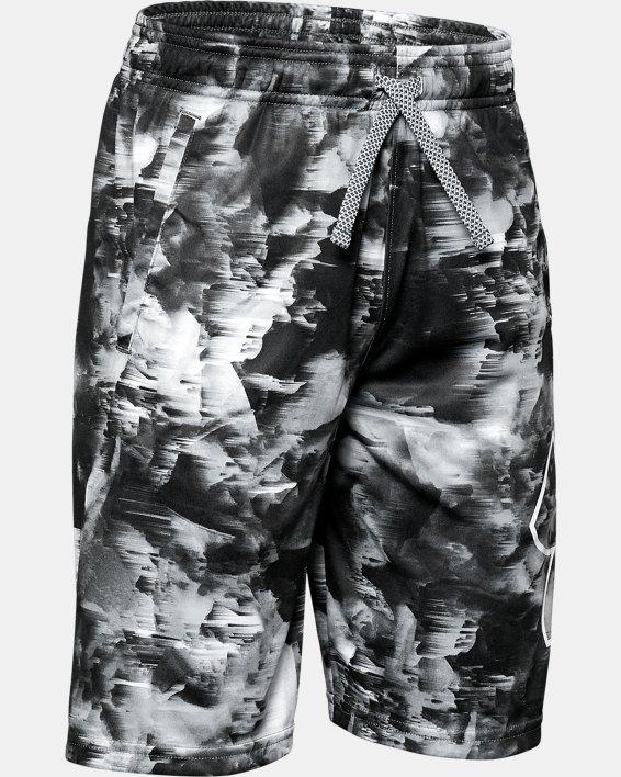 Boys' UA Renegade 2.0 Printed Shorts, Gray, pdpMainDesktop image number 0