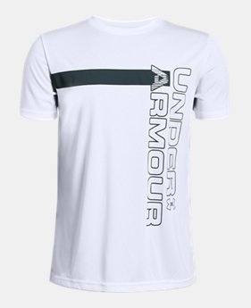 9f0297dd174 Boys  UA UV Wordmark T-Shirt FREE U.S. SHIPPING 1 Color Available  25