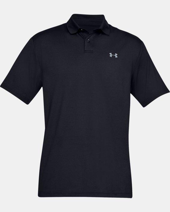 Men's UA Performance Polo Textured, Black, pdpMainDesktop image number 3