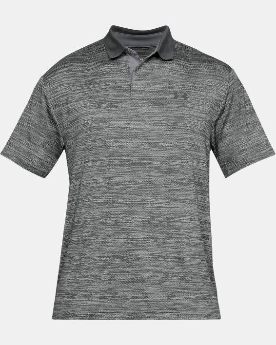 Men's UA Performance Polo Textured, Gray, pdpMainDesktop image number 3