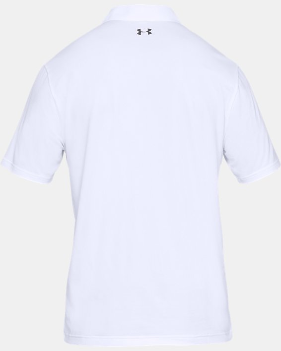 Men's UA Performance Polo Textured, White, pdpMainDesktop image number 4