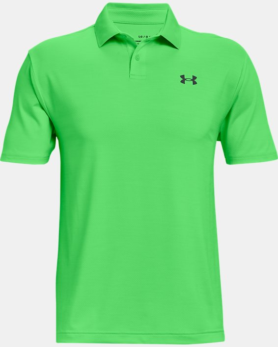 Polo texturizado UA Performance para hombre, Green, pdpMainDesktop image number 3