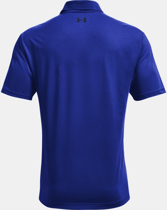 Men's UA Performance Polo Textured, Blue, pdpMainDesktop image number 4