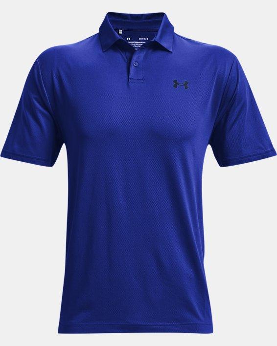 Men's UA Performance Polo Textured, Blue, pdpMainDesktop image number 3