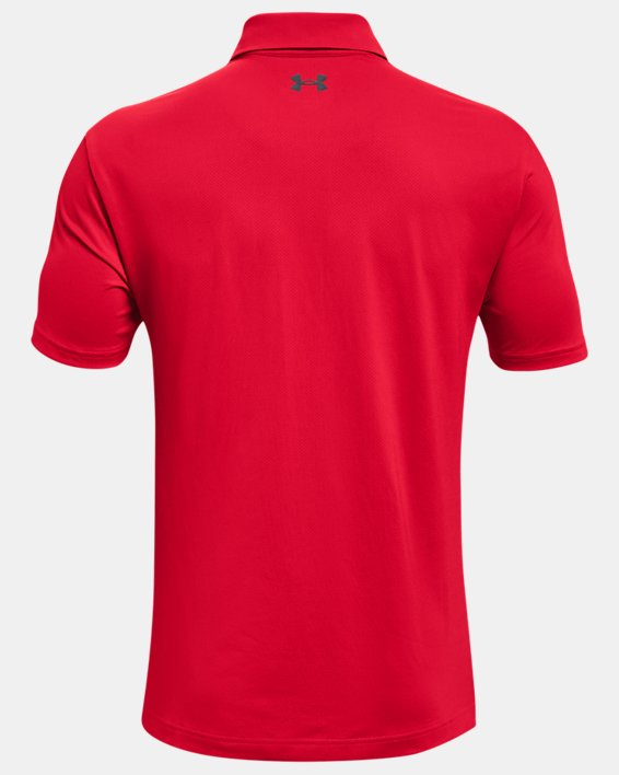 Herenpolo UA Performance Textured, Red, pdpMainDesktop image number 4