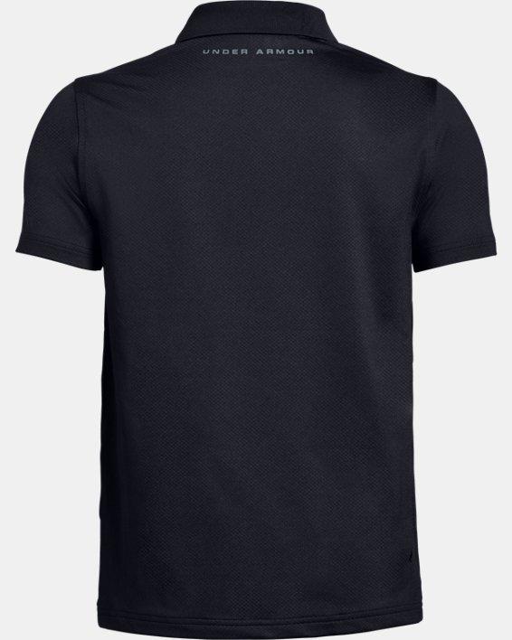 Boys' UA Performance Polo Textured, Black, pdpMainDesktop image number 5