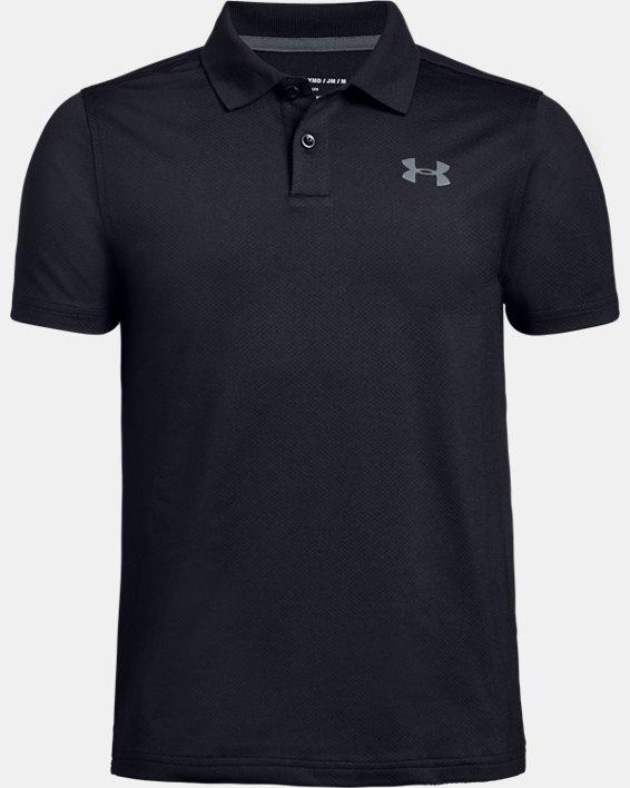 Boys' UA Performance Polo Textured, Black, pdpMainDesktop image number 4