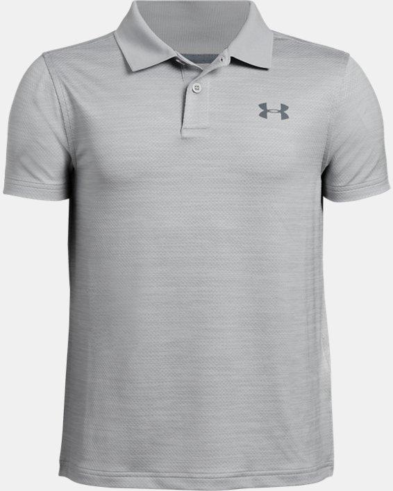 Boys' UA Performance Polo Textured, Gray, pdpMainDesktop image number 4