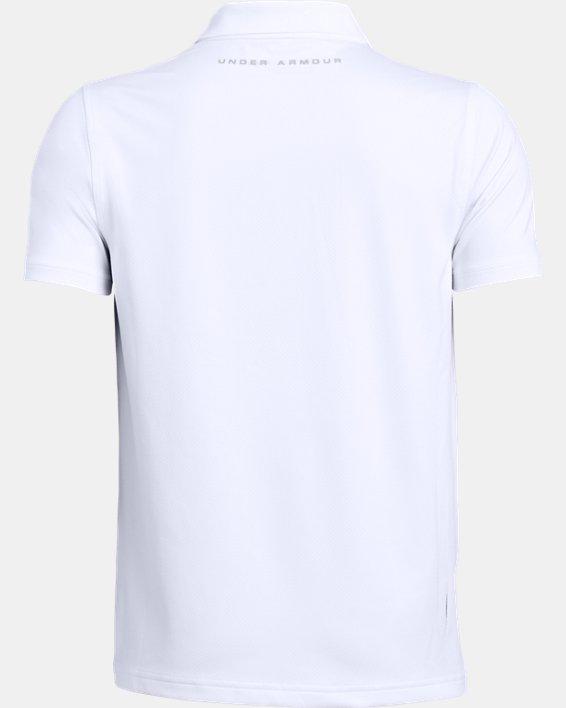 Boys' UA Performance Polo Textured, White, pdpMainDesktop image number 5