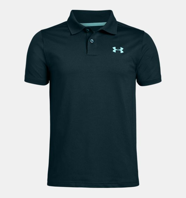 Boys' UA Performance Polo Textured, Batik, , Batik, Click to view full size