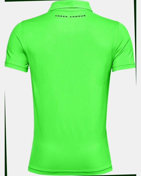 Boys' UA Performance Polo Textured, Green, pdpMainDesktop image number 1