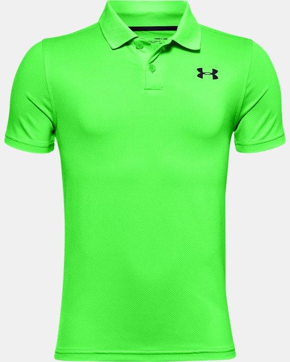 Boys' UA Performance Polo Textured, Green, pdpMainDesktop image number 0