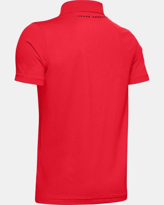 Boys' UA Performance Polo Textured, Red, pdpMainDesktop image number 1