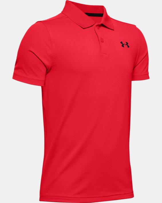 Boys' UA Performance Polo Textured, Red, pdpMainDesktop image number 0