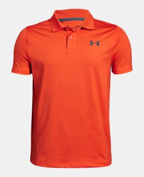 65b0e72dcbda0 New to Outlet Boys' UA Performance Polo Textured 2 Colors Available $22.99  to $24.99