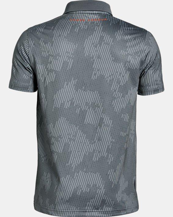 Boys' UA Performance Polo Textured Printed, Gray, pdpMainDesktop image number 1