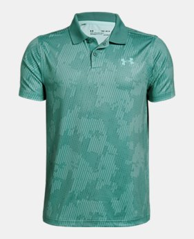 90683246 New to Outlet Boys' UA Performance Polo Textured Printed 1 Color Available  $26.99