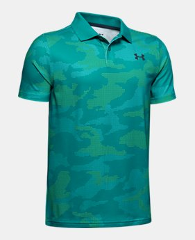 0faae3a70 New Arrival Boys' UA Performance Polo Textured Printed 1 Color Available $35