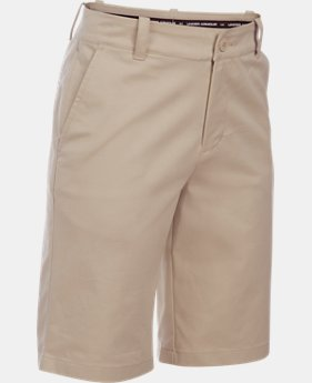 Boys' UA Uniform Chino Slim Fit Husky Shorts  1  Color Available $45