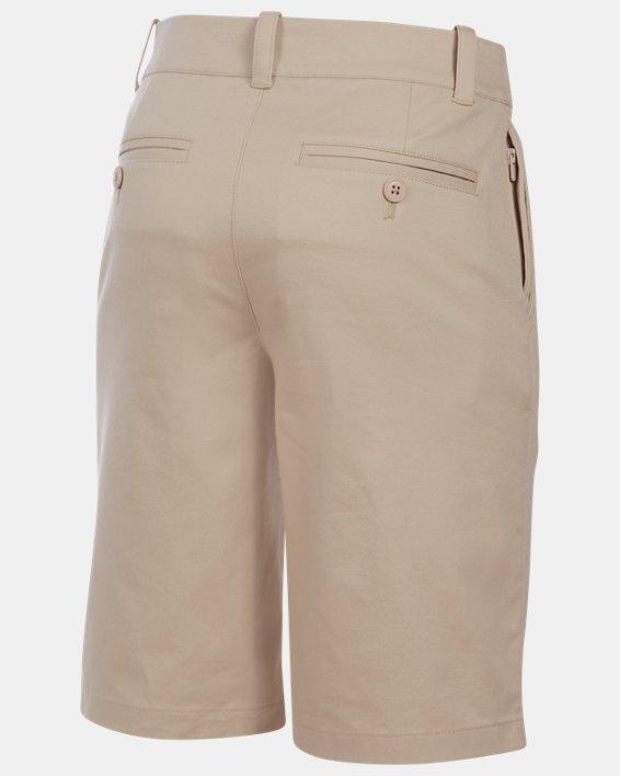 Boys' UA Uniform Chino Slim Fit Shorts, Brown, pdpMainDesktop image number 1