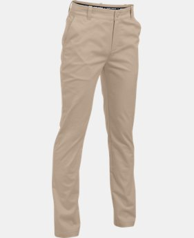 New Arrival Boys' UA Uniform Chino Slim Fit Husky Pants  2  Colors Available $55