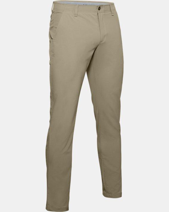 Men's UA Match Play Tapered Pants, Brown, pdpMainDesktop image number 4