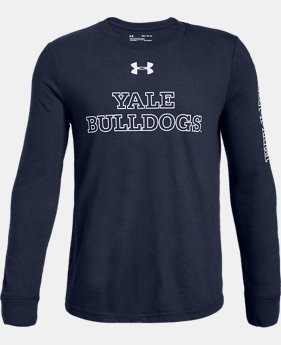 New Arrival Boys' UA Cotton Collegiate Long Sleeve Shirt  1  Color Available $28