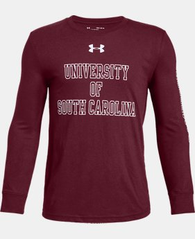New Arrival Boys' UA Cotton Collegiate Long Sleeve Shirt  3  Colors Available $28