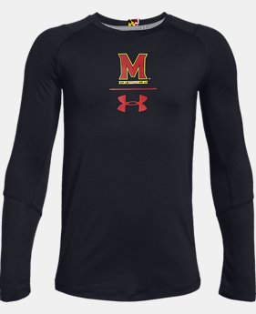 Boys' UA MK-1 Collegiate Long Sleeve Shirt  1  Color Available $25.2