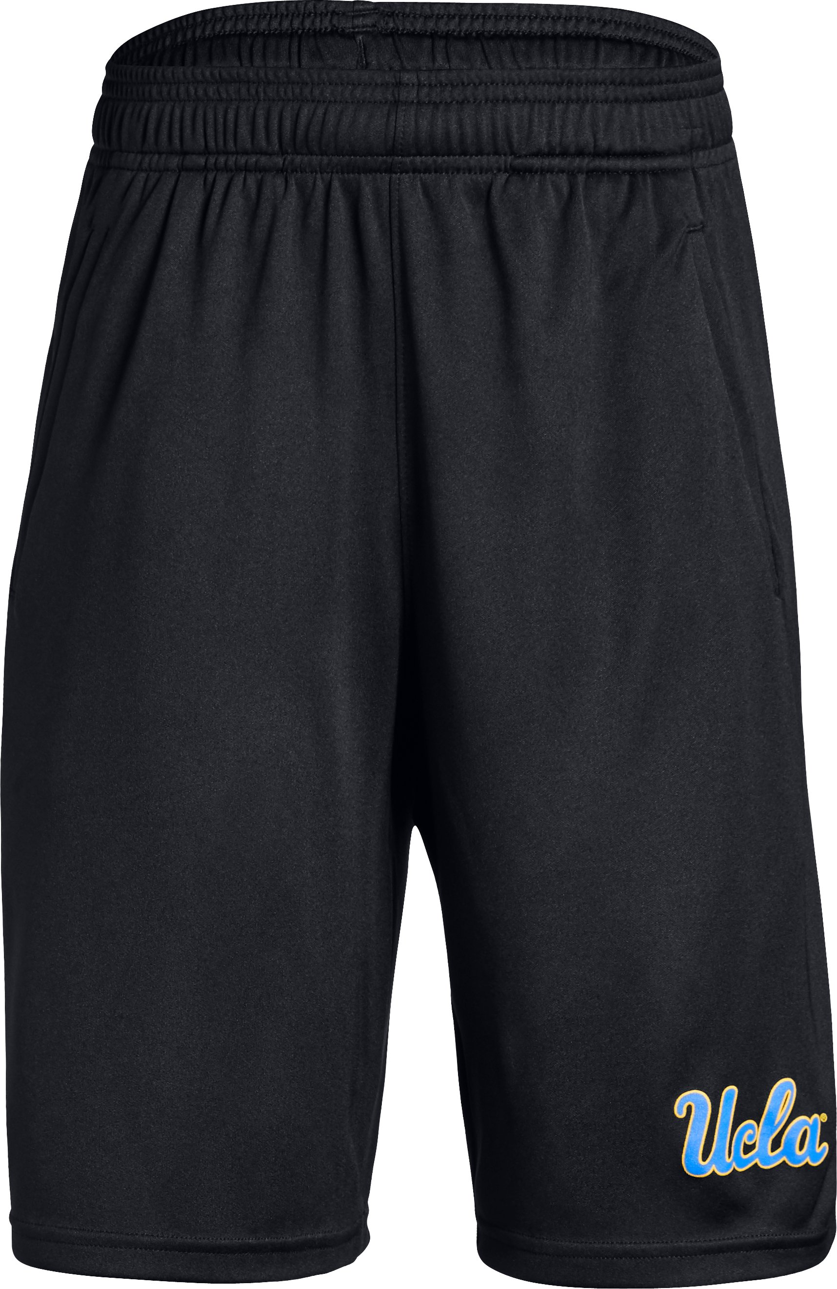 Boys' UA Intimidator Collegiate Shorts, Black , zoomed