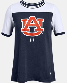 New Arrival Girls' UA Varsity Pinhole Collegiate Short Sleeve  1  Color Available $32
