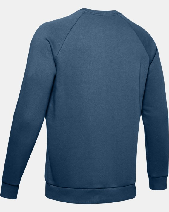 Men's UA Rival Fleece Crew, Blue, pdpMainDesktop image number 5