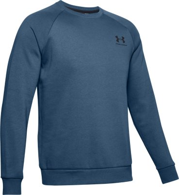 Under Armour Mens Rival Fleece Crew Sports Jumper with Loose Fit Comfortable and Warm Mens Jumper