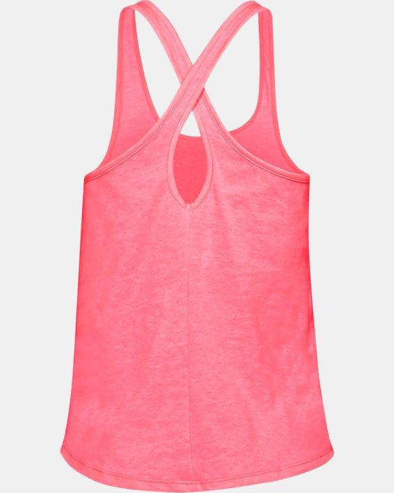 Women's UA Crossback Tank, Pink, pdpMainDesktop image number 4