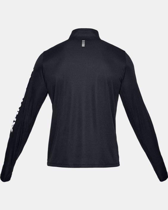 Men's UA Speed Stride Split ¼ Zip, Black, pdpMainDesktop image number 5